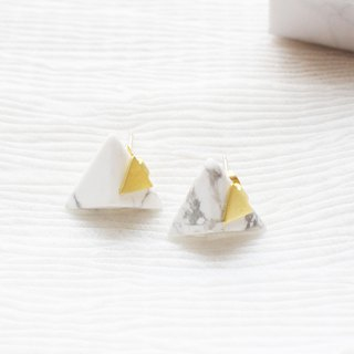 geometry. Triangular white turquoise earrings earrings sterling silver TRIANGLE HOWLITE STUD EARRING