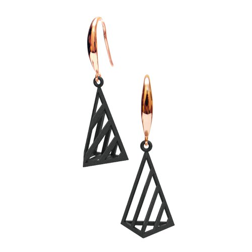 Op Triangle Earring (S) (Black) | illusion Collection