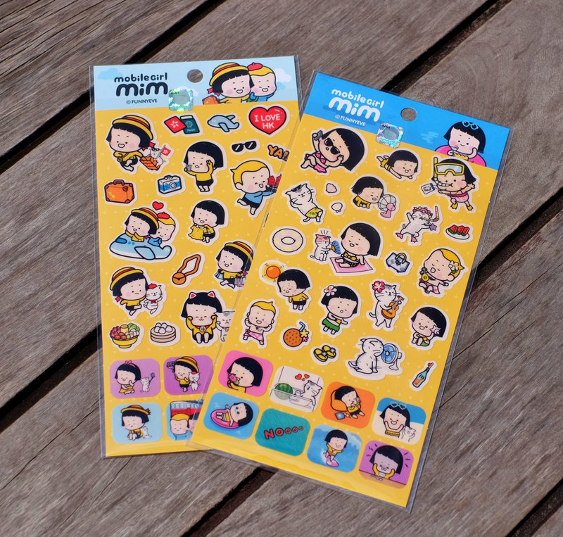 Mobile Girl Mim 7-11 sticker HK limited (2 pieces)