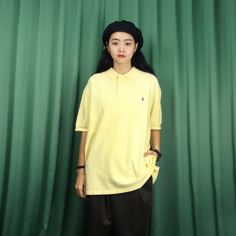 Tsubasa.Y Antique House A06 Light Yellow Ralph Lauren POLO Shirt, Short Sleeve Shirt