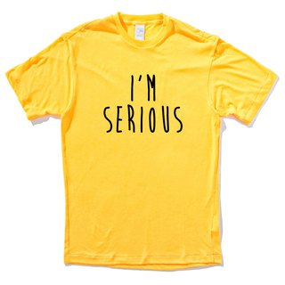 I'M SERIOUS yellow t shirt