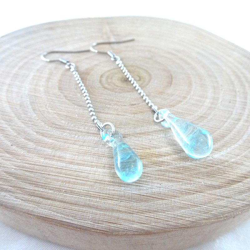 Water droplets long earrings