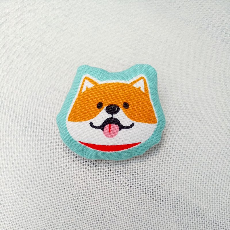 Shiba Inu-Orange brooch pin