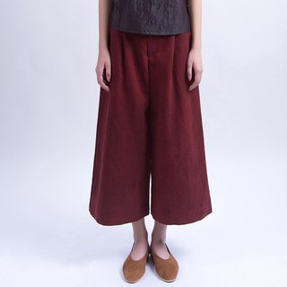 Heavy silk silk wide leg pants