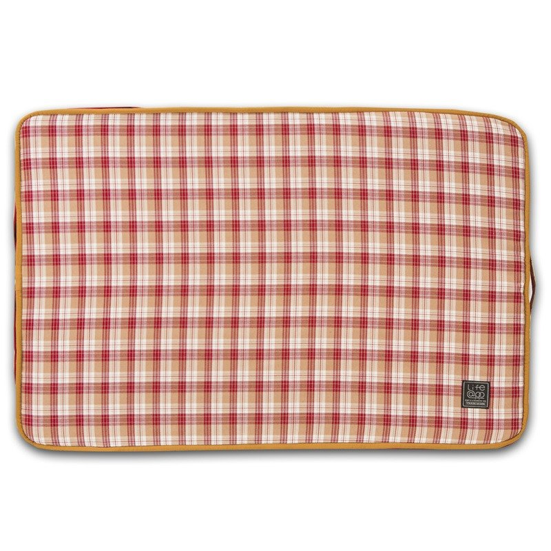 """Lifeapp"" mattress replacement cloth cover M_W80xD55xH5cm (Red Plaid) without sleeping mats"