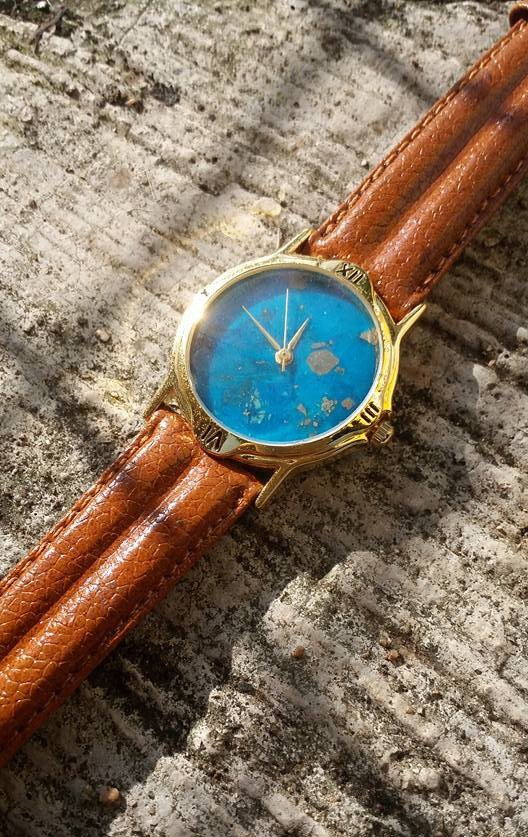 【Lost And Find】Natural gemstone Turquoise gemstone watch