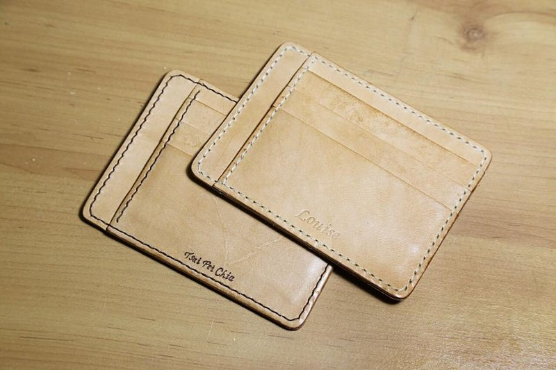 Arts and a small | vegetable tanned leather money clip card holder purse Valentine's Day gift