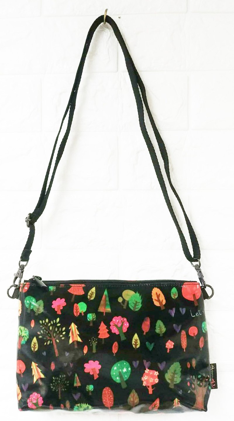 Colorful tree pattern crossbody bag