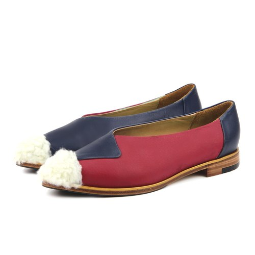 HardShape W1058 BlueRed round-point toe flats