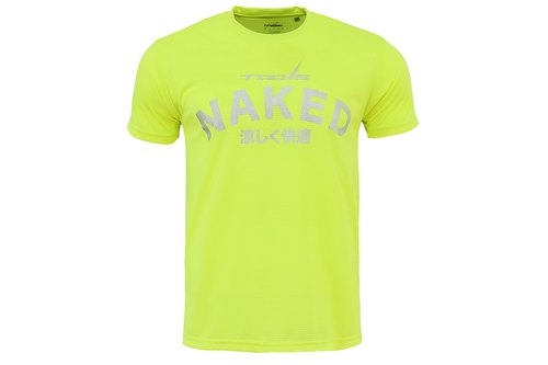 ✛ tools ✛ NAKED-X light cold sweat short-sleeved T / sweat T / wicking / breathable brightly colored yellow #