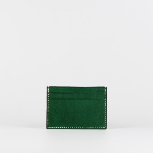 Hand-stitched card holder _ green-Card Holder_Green