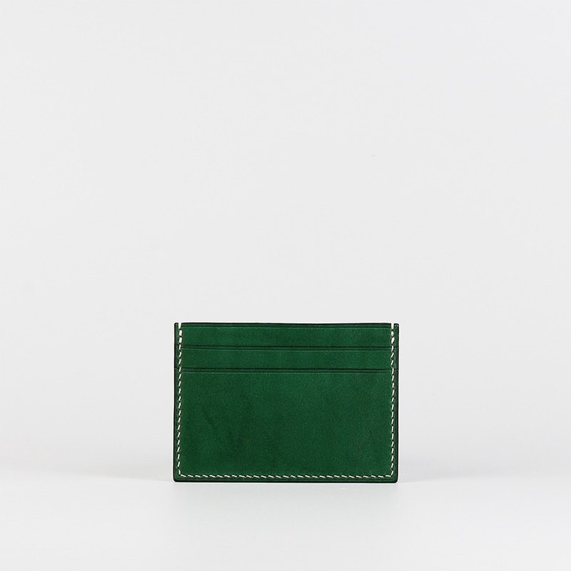 Hand-stitched card holder _ Green - Card Holder_Green