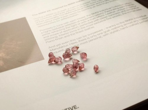 Journal of Small Eccentric / pink tourmaline, sterling silver bracelets