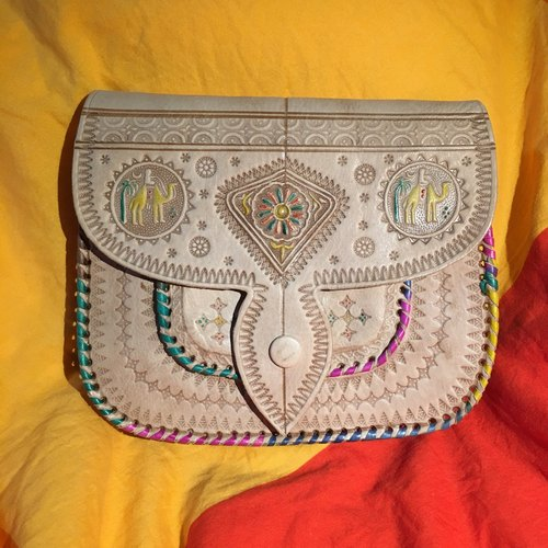 Moroccan handmade color camel bag - meknies