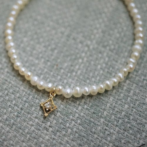 ITS-972 [Bracelet Series · Natural Freshwater Pearl] Diamond Mini Pendant Valentine's Day gift