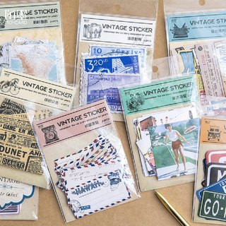 Retro nostalgic vintage poster sticker bag hand account DIY sticker can be written 8 optional 24