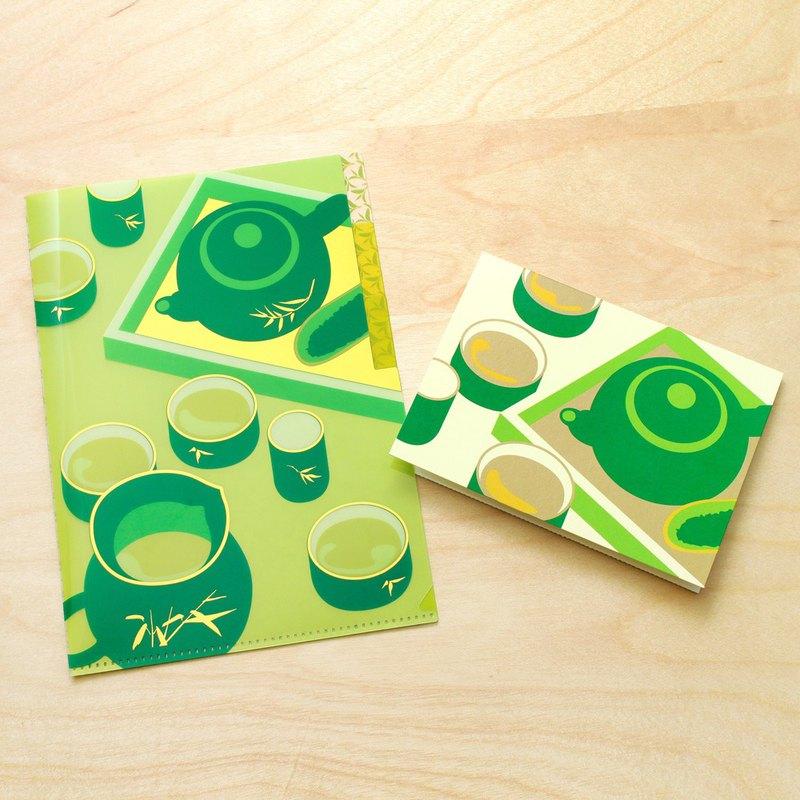 台灣風味-高山茗茶 A5三層資料夾與卡片組