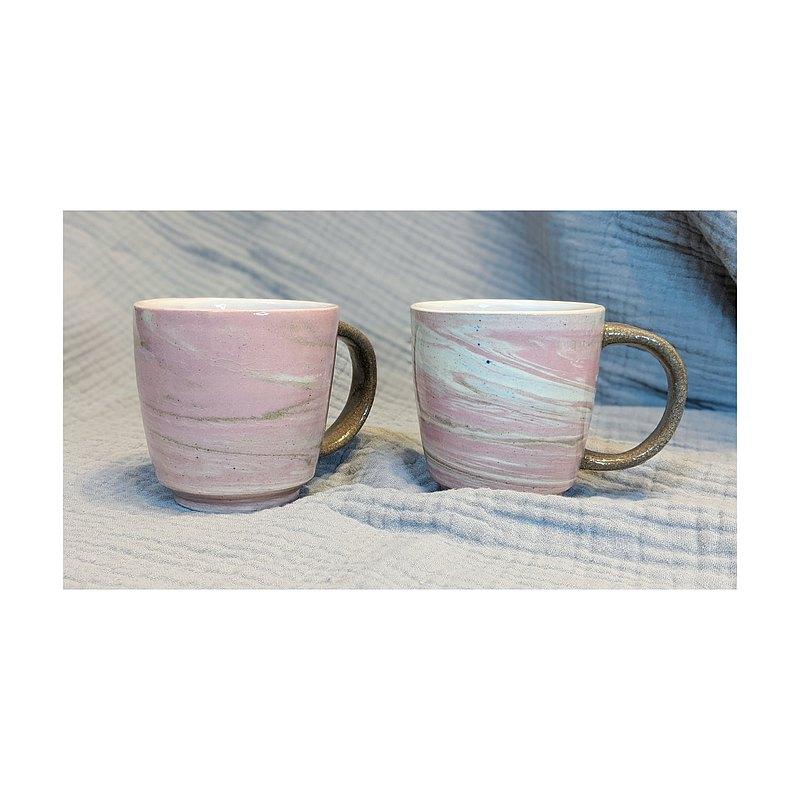 【香港製造】手工陶器 -混泥設計 - 對杯組合