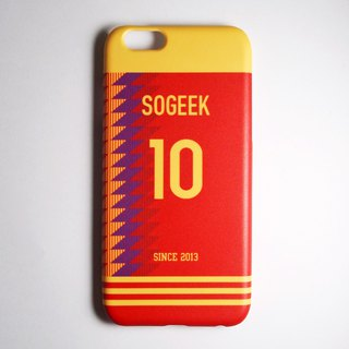 SO GEEK mobile phone shell design brand THE JERSEY GEEK jersey back number customized models 069
