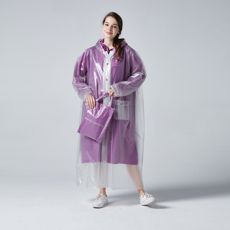 BAOGANI double raincoat - dot (purple)