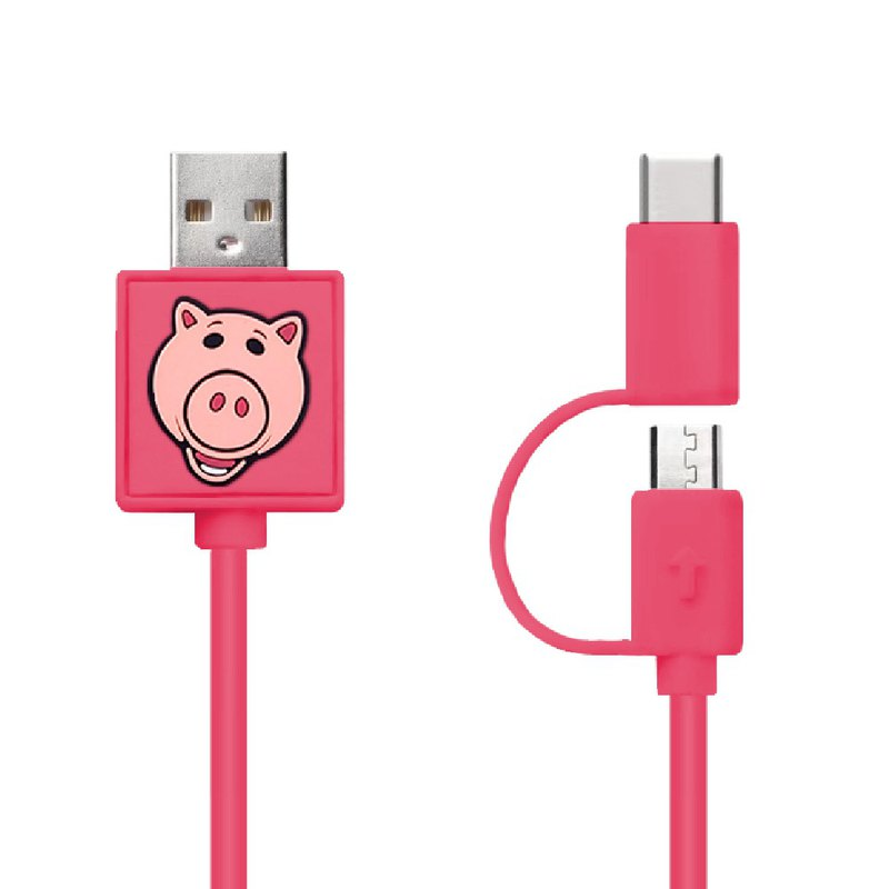 Ham 2-In-1 Micro USB & Type C Sync Data  and Charging Cable 0.7M
