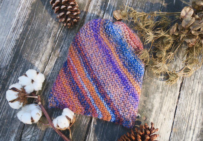 A mother's hand made hat - little dwarf fairy hat - harmonious blue gradient / gift / new year / Christmas hat