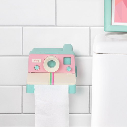 DOIY Laride Volume toilet paper holder (pink)