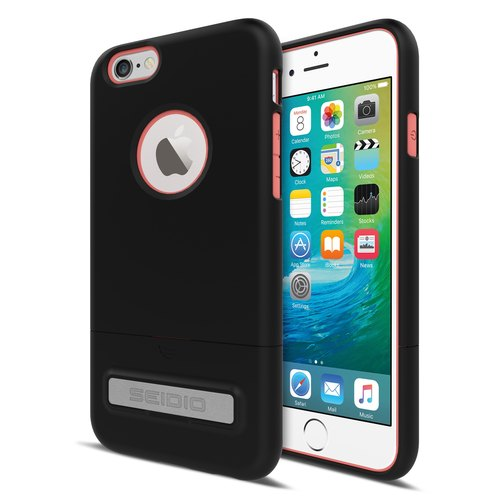 City Fashion Two-tone Cover / Case for iPhone 6 (s) Plus - Yupi Black (Black) -SURFACE Collection