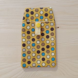 Colored dot pocket pencil case / attached bag