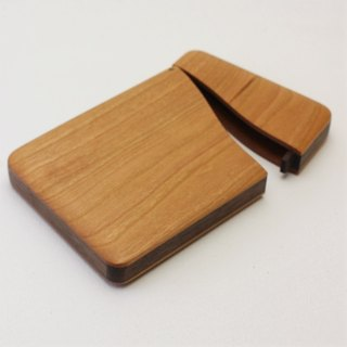 name-card holder Cherry and Walnut