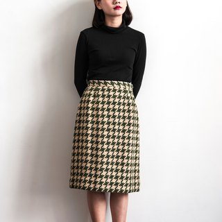 Vintage two-color Houndstooth wool skirt