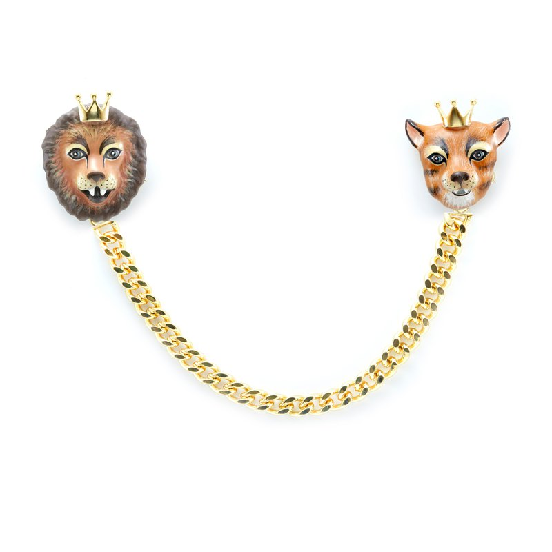 King & Queen Collar Brooch
