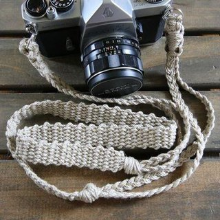 Hemp string hemp camera strap A / double ring