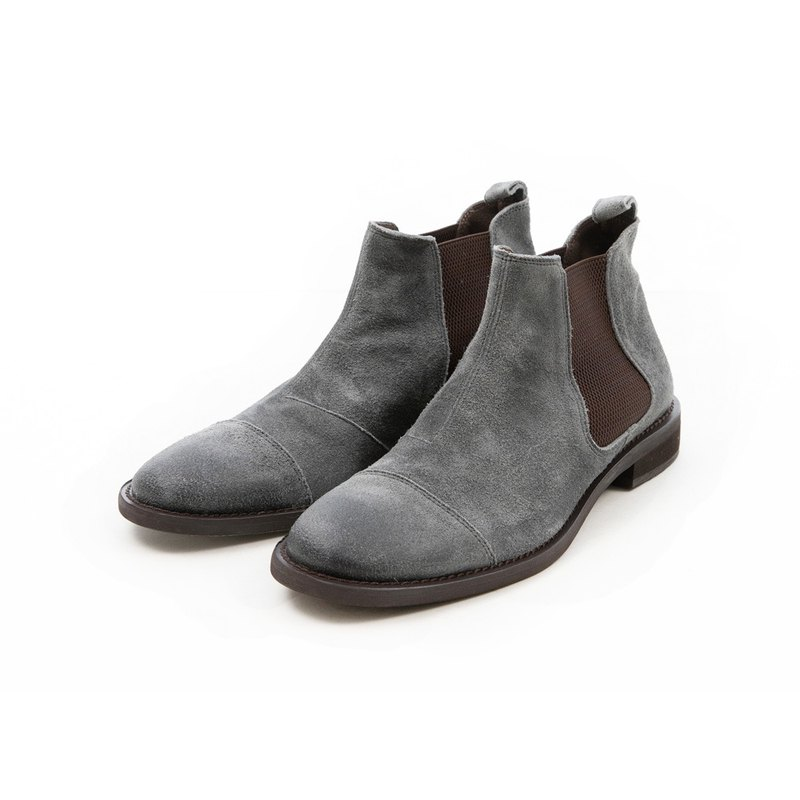 ARGIS Japan's simple horizontal style butel boots [62203 fog gray] Japanese handmade