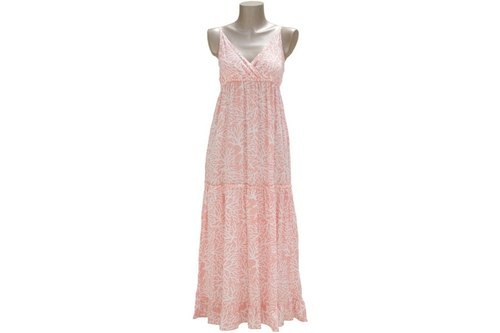 New of the summer! Coral print camisole Resort dress <Pink>