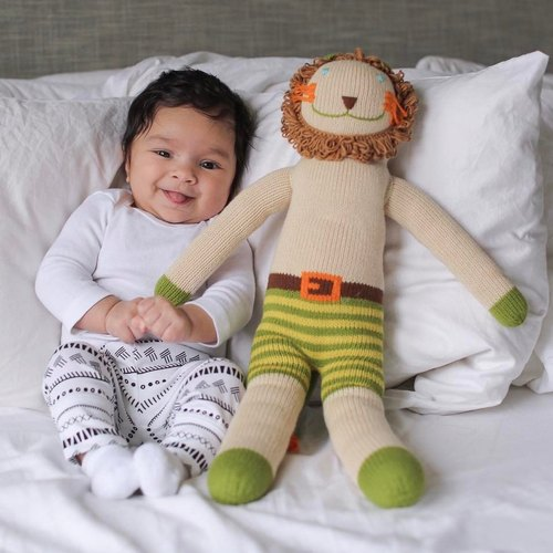 American Blabla Kids Cotton Knit Doll (Big Only) - Lion Charlie