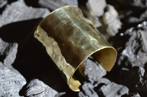 Extra wide brass bracelet - handmade in Spain