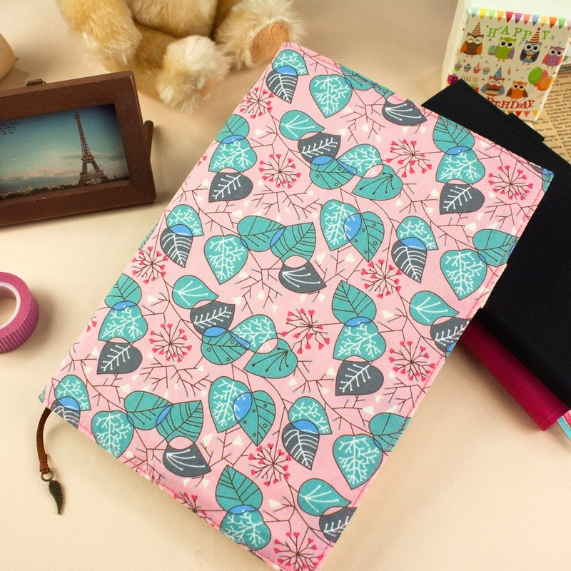[Book] の clothing Limited A5 / 25K adjustable multi-purpose cloth cotton cloth slipcase / book cloth clothes - cherry leaf