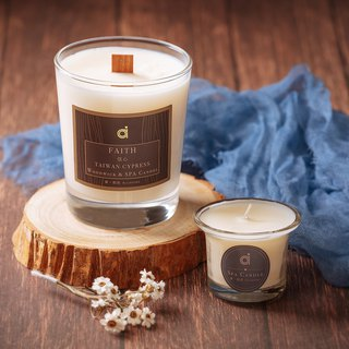 【信心(檜木)-木芯香氛蠟燭Faith】 - Taiwan Cypress (Hinoki) Woodwick Candle