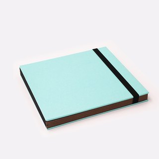 Three summer light years classic solid color strap books section DIY album creative gifts large square (sky blue)
