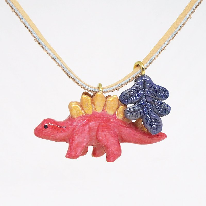 Stegosaurus handmade necklace