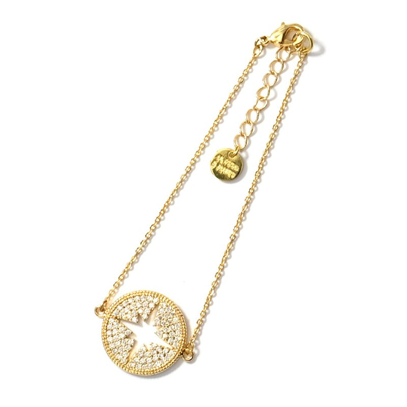 ALYSSA & JAMES Round Star Zircon Bracelet