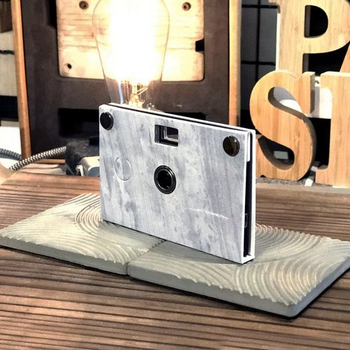 Camera cases only - Paper Shoot Camera Stone Pattern - Exposed Concrete