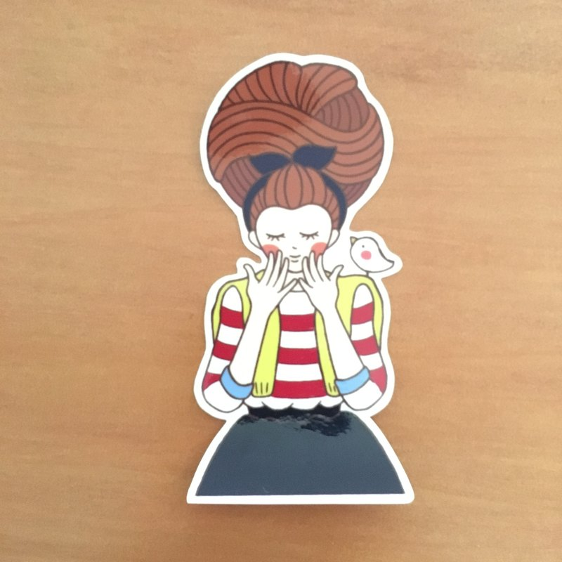 Honeycomb girl series medium waterproof sticker SM0047