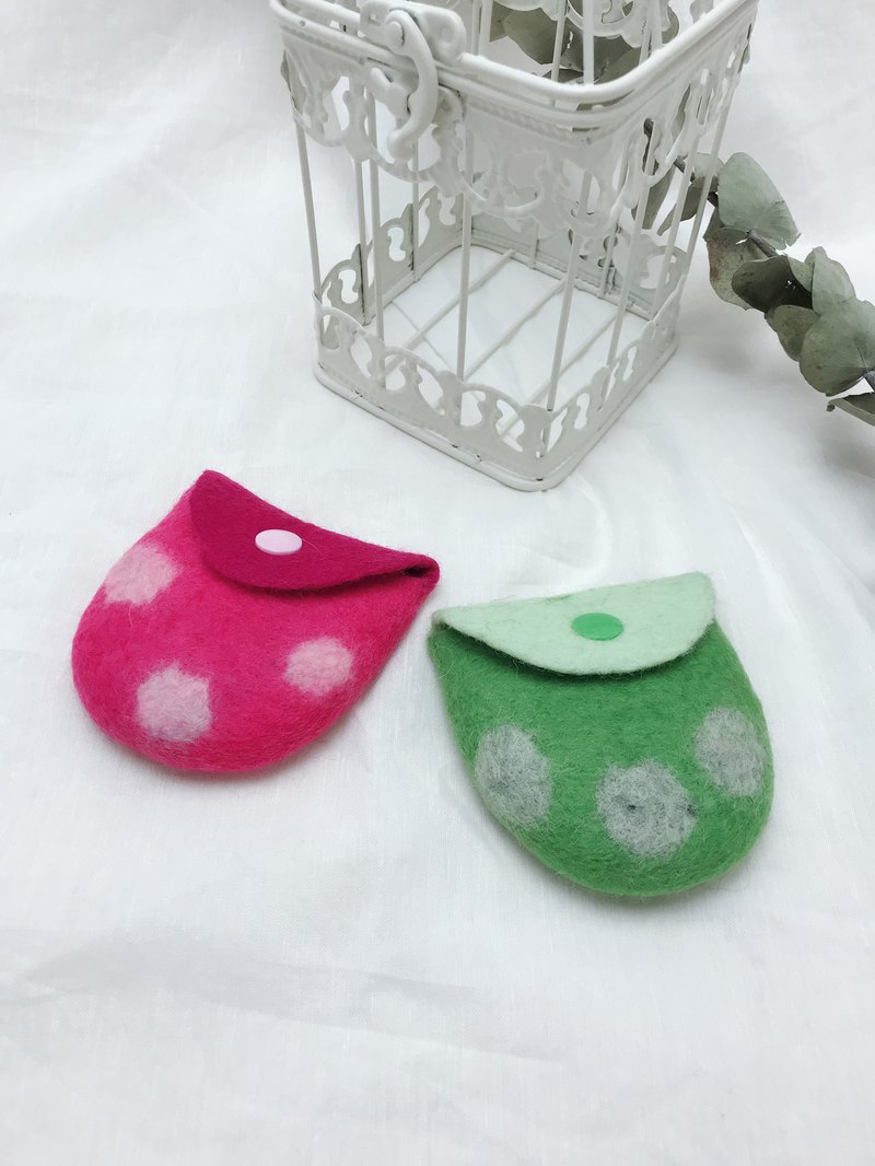 Wool Felt Coin Purse - Dotted Series