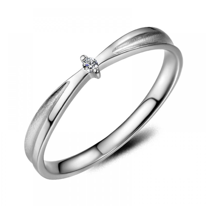 Diamond 316L Stainless Steel Ring Casting Jewelry for Female
