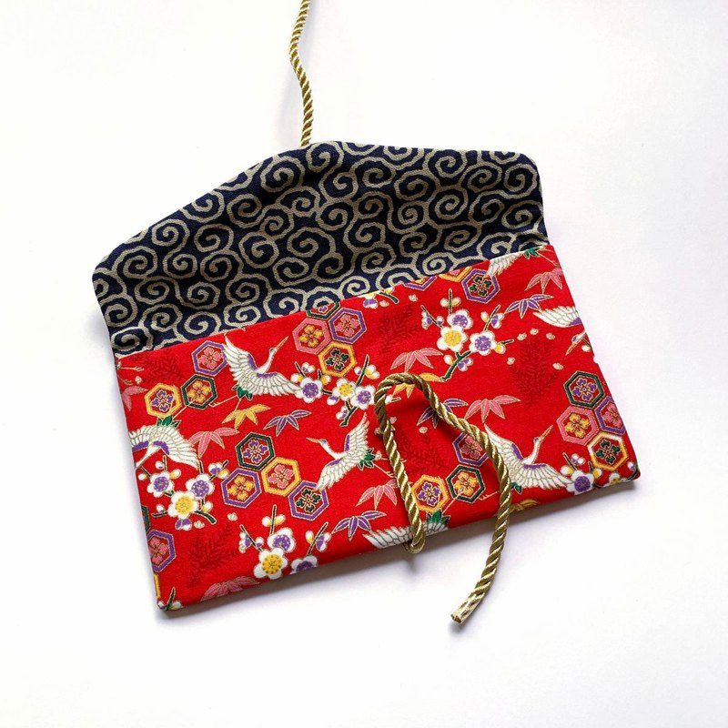 Japanese style white crane auspicious red envelope bag red envelope