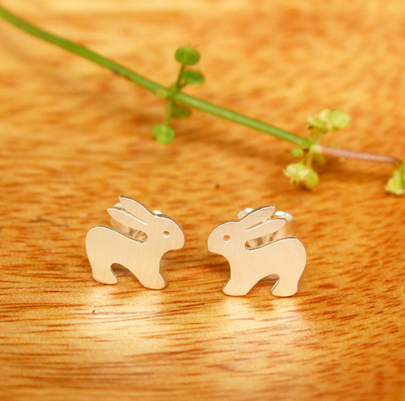 Funny Bunny - Rabbit - Silver Earrings / Sterling Silver /Rabbit / Earrings