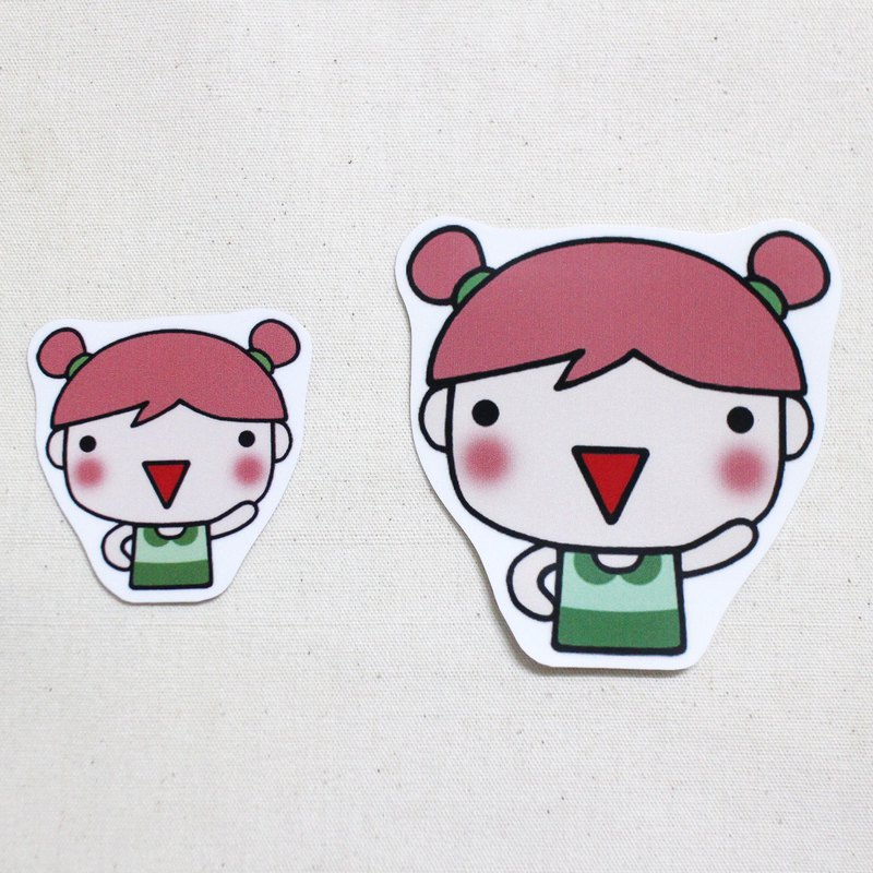 Waterproof sticker_Little girl 05