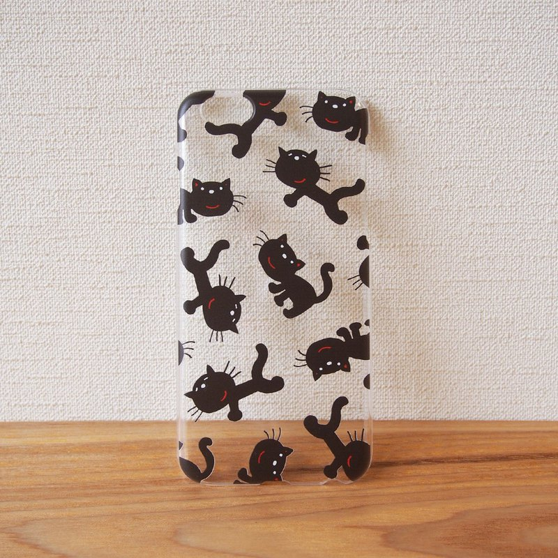 Clear android phone case - Black Cat -